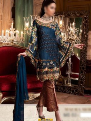 MARYAM'S LUXURY MAURA MORNING EMBROIDERED COTTON COLLECTION 2018 REPLICA