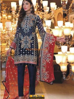 MARYUM & MARIA Luxury ROUGE (FMM-401) Embroidered Chiffon Collection Replica