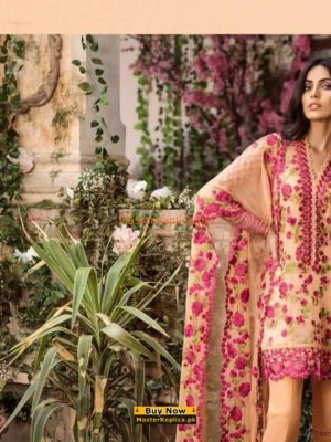 MINA HASSAN LUXURY EMBROIDERED CHIFFON COLLECTION 2018 MASTER REPLICA