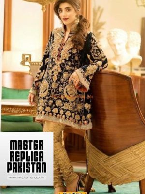 NICKIE AND NINA LUXURY EMRBOIDERED VELVET WINTER COLLECTION 2018 MASTER REPLICA
