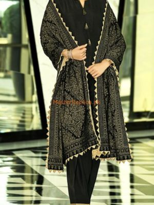 NISHAT LUXURY EMBROIDERED VELVET SHAWL COLLECTION 2018