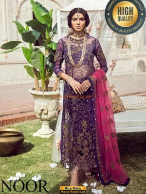 NOOR BY SADIA LUXURY EMBROIDERED BRIDAL CHIFFON COLLECTION MASTER REPLICA