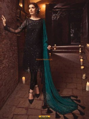 SERENE AURORA BOREALIS-04 LUXURY EMBROIDERE CHIFFON COLLECTION 2018 REPLICA
