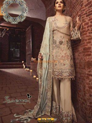 SERENE Luxury 08 Pastel Eleganza Embroidered Chiffon Collection Replica