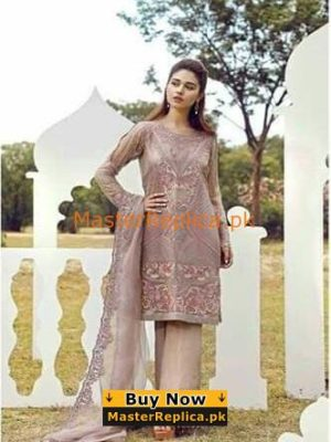 SERENE LUXURY EMBROIDERED PARTY WEAR CHIFFON COLLECTION 2018 MASTER REPLICA