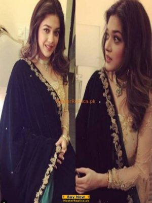 SANAM JUNG INSPIRED EMBROIDERED VELVET SHAWL