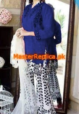 SIDRA MUMTAZ LUXURY EMBROIDERED COTTON COLLECTION 2018 REPLICA