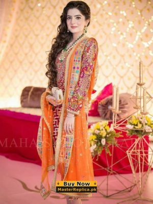 ZAINAB CHOTTANI LUXURY EMBROIDERED CHIFFON COLLECTION 2018 MASTER REPLICA