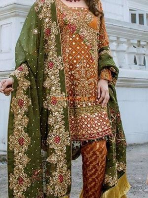 DESIGNER LUXURY EMBROIDERED CHIFFON COLLECTION 2018 REPLICA