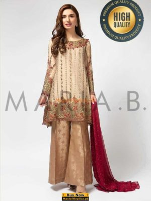 MARIA B LUXURY EMBROIDERED SF-1648B CHIFFON COLLECTION 2018 MASTER REPLICA