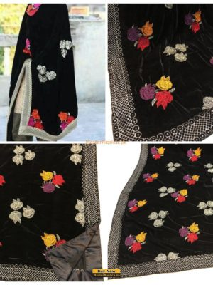 KASHAN LUXURY EMBROIDERED VELEVT SHAWLS COLLECTION 2018 REPLICA