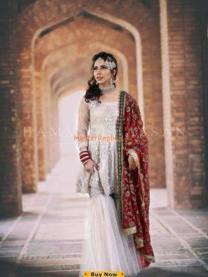 Zainab Chottani Bridal Chiffon Embroidered Master Replica