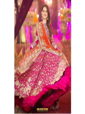 KASHEES Luxury Embroidered Chiffon Bridal Wear Collection Replica