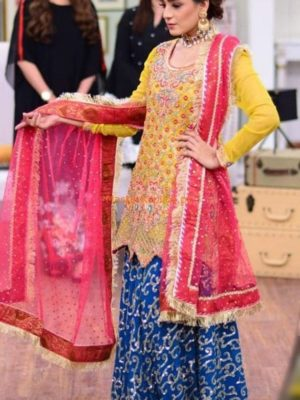 KASHEES Luxury Embroidered Bridal Wear Chiffon Collection Replica