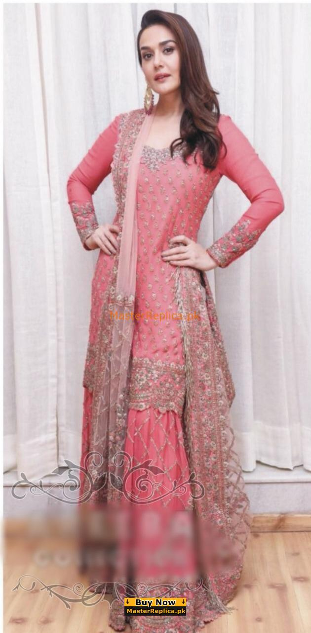 MANISH MALHOTRA Luxury Embroidered Bridal Wear Chiffon Collection Replica