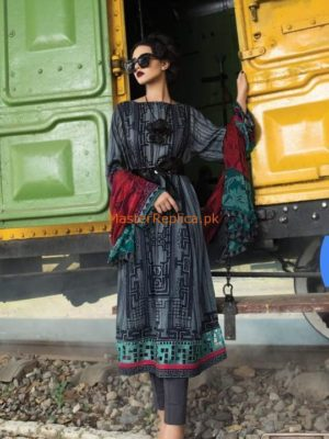 MARIA B Luxury Embroidered Winter Cotton Collection Replica