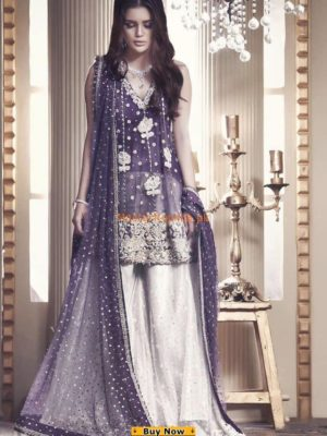 Maria B Luxury Embroidered Bridal Wear Net Collection Replica