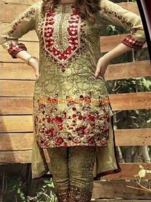 NAKOOSH Luxury Embroidered Latest Net Collection Replica