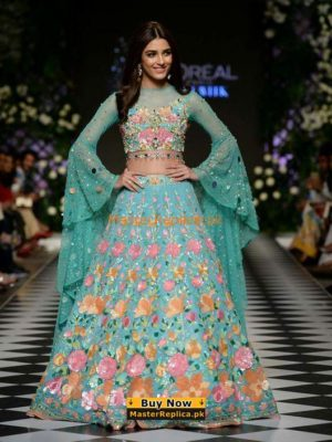 NOMI ANSARI Luxury Embroidered Net Bridal Wear Collection Replica
