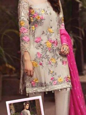 Serene Luxury Embroidered Chiffon Collection Replica 2019
