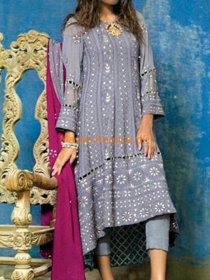 Designer Luxury Embroidered Chiffon Collection Replica 2019