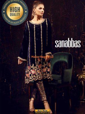SANA ABBAS Velvet Dress