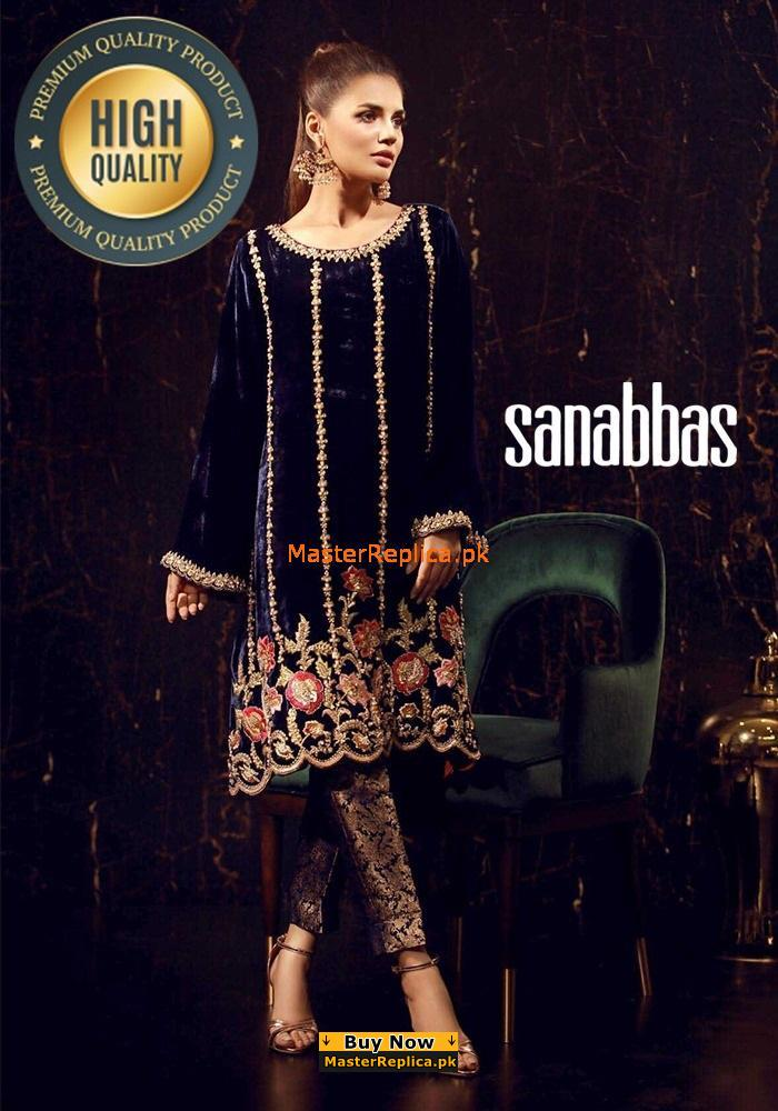 SANA ABBAS Velvet Dress